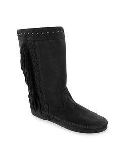 Minnetonka | Luna Suede Fringe Mid-Calf Boots