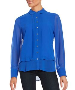 KARL LAGERFELD PARIS | Button-Front Blouse
