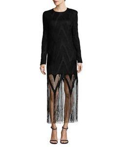 Misha Collection | Rita Mesh-Overlay Shift Dress
