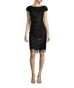 Vera Wang | Sequin Sheath Dress