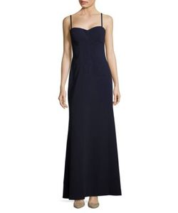 Vera Wang | Solid Sweetheart-Neckline Gown