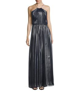 Vera Wang | Foil Pleated Gown