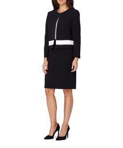 Tahari Arthur S. Levine | Thick Waistband Jacket Skirt Suit