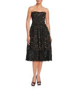 Vera Wang | Strapless Lace Dress
