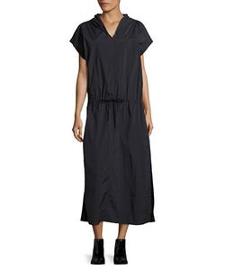 Dkny Pure | Short-Sleeve Hooded Maxi Dress