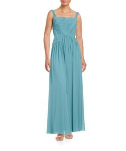 Vera Wang | Sleeveless Solid Gown
