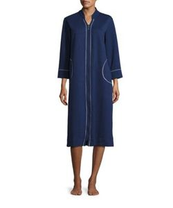 Carole Hochman | Plus Diamond Shimmer Zip Robe