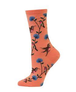 Hot Sox | Hummingbird Crew Socks