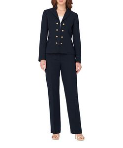 Tahari Arthur S. Levine | Double-Breasted Jacket And Pants Suit