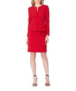 Tahari Arthur S. Levine | Splitneck Jacket And Skirt Suit Set