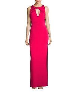 Shoshanna   Sleeveless Side Slit Gown