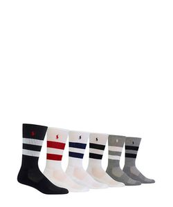 Polo Ralph Lauren | Varsity Striped Sport Socks/Pack Of 6