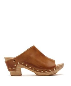 Etienne Aigner | Yael Vachetta Leather And Wooden Clog