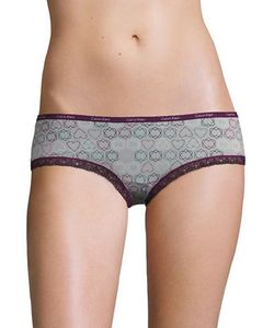Calvin Klein | Lace-Trimmed Stretch Hipster Panties