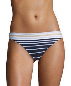 Michael Kors | Striped Pull-On Bikini Bottom