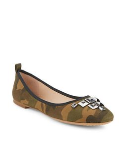 Marc Jacobs | Cleo Studded Camouflage Flats