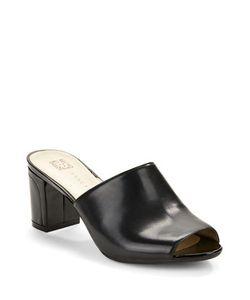 AK Anne Klein   Carena Open-Toe Leather Mules
