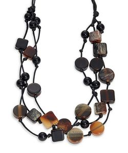 Kenneth Jay Lane | Scatter Geo Beaded Multi-Row Necklace
