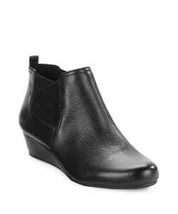 Easy Spirit | Dalena Leather Wedge Ankle Bootie