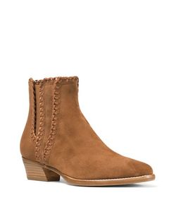Michael Kors Collection | Presley Whipstitched Suede Booties