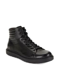 Karl Lagerfeld | Round Toe High-Top Sneakers