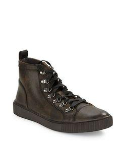 John Varvatos | Textured Leather Sneakers