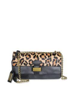 Badgley Mischka | Tania Wild Leather And Calf Hair Crossbody Bag