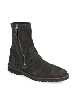 John Varvatos   Hipster Roccia Sherpa-Lined Suede Slouchy Boots