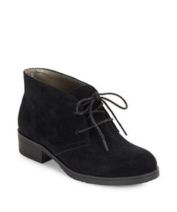 Bandolino | Talon Suede Lace-Up Booties
