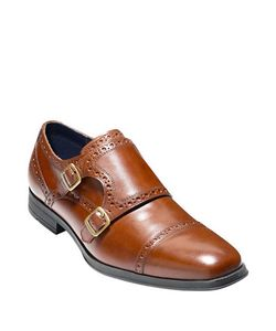 Cole Haan | Montgomery Double Monk-Strap Leather Oxfords