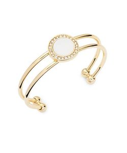 R.J. Graziano   Mother Of Pearl Pave Double Cuff Bracelet