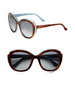 Salvatore Ferragamo | 54 Mm Contrast Brow Sunglasses