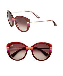 Salvatore Ferragamo | 55mm Round Sunglasses