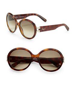 Salvatore Ferragamo | 57mm Round Sunglasses