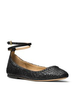 Michael Kors Collection | Dunbar Woven Leather Flats
