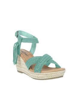 Minnetonka | Naomi Suede Espadrille Wedge Sandals