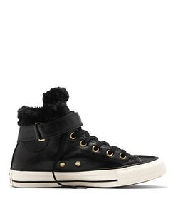 Converse | Chuck Taylor All Star Brea Leather Faux Fur High-Top Sneakers