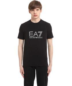 EA7 Emporio Armani | Logo Cotton Stretch T-Shirt