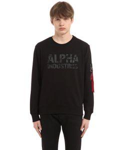 Alpha Industries | Camo Logo Cotton Terry Sweatshirt