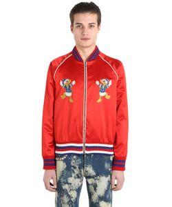 Gucci | Donald Duck Silk Duchesse Bomber Jacket