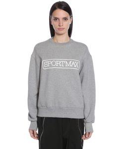 Sportmax | Logo Printed Cotton Jersey Sweatshirt