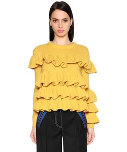 Marco de Vincenzo | Ruffled Wool Knit Sweater