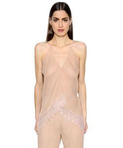 Vionnet | Sheer Silk Crepon Lace Top