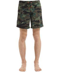 Sundek | Elastic Waist Long Swim Shorts