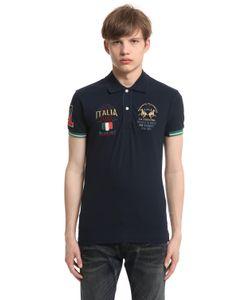 LA MARTINA   Italia Stretch Cotton Piquet Polo Shirt