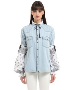 Forte Couture | Cotton Denim Bandana Jacket