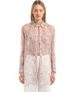 Calvin Klein Collection   Printed Silk Shirt