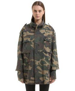 Yeezy   Oversized Camouflage Canvas Field Jacket