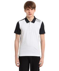 EA7 Emporio Armani | Cotton Jersey Golf Polo Shirt