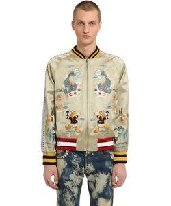 Gucci | Donald Duck Silk Blend Duchesse Bomber